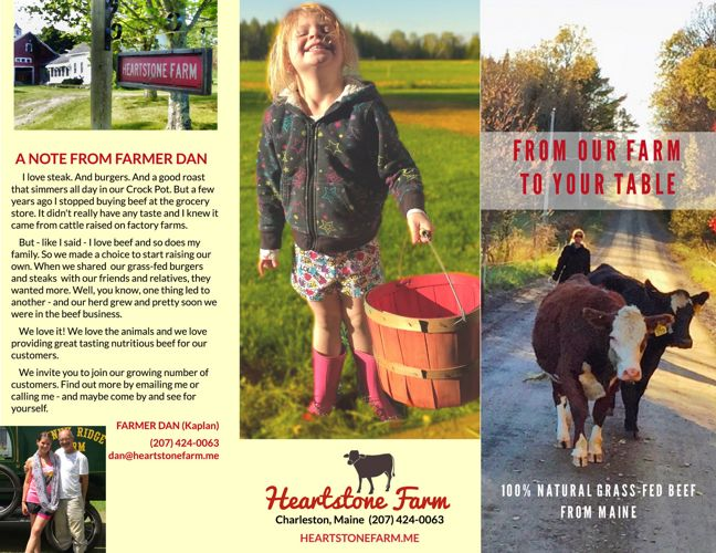 Heartstone Farm flyer