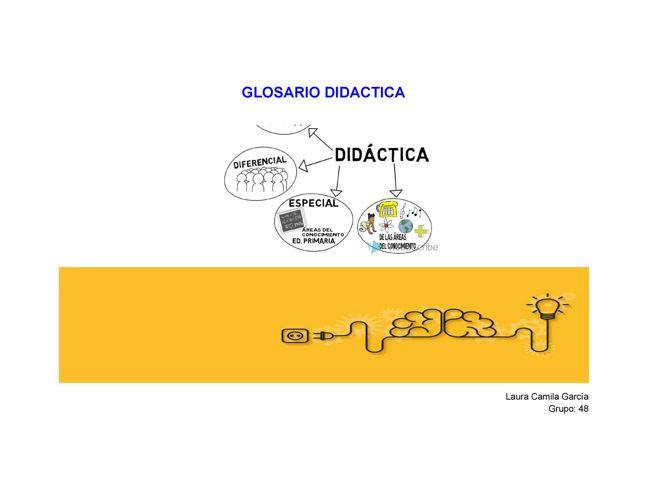 Glosario Didactica