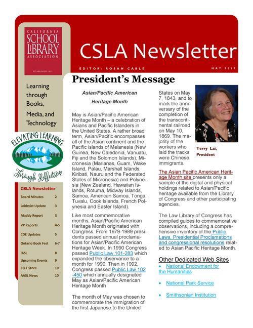 2017_05 CSLA Newsletter