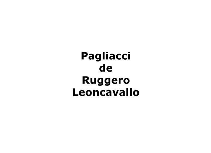 Pagliacci en direct du MET - argument