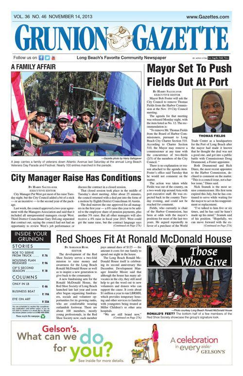 Grunion Gazette | November 14, 2013