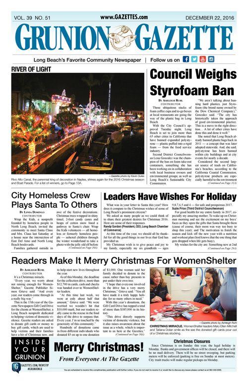Grunion Gazette  |  December 22, 2016