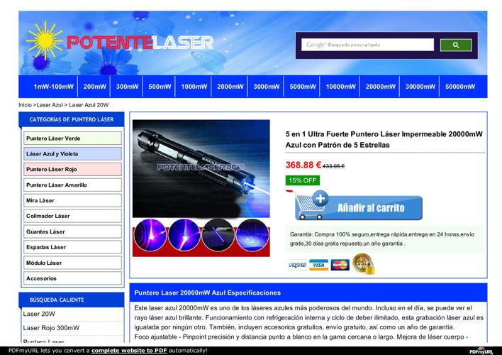 Laser Puntero 20000mW