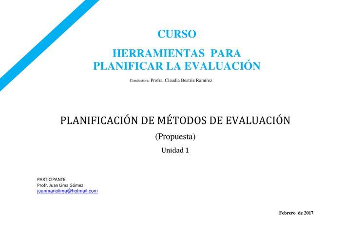 JLG_Planificación de métodos de valuación