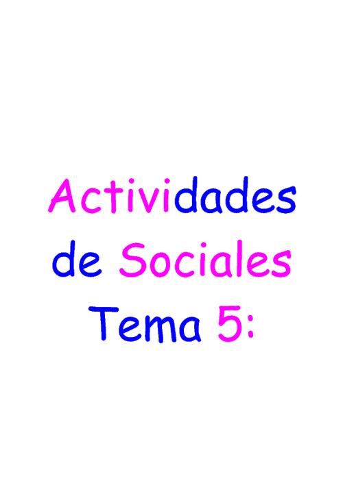 New Flip 1Actividades de Sociales dle Tema 5