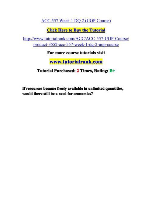 ACC 557 Potential Instructors / tutorialrank.com