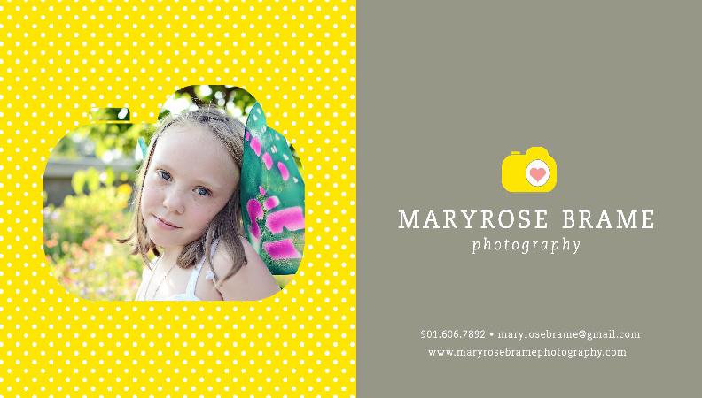 Maryrose Brame Photography Pricing 2012