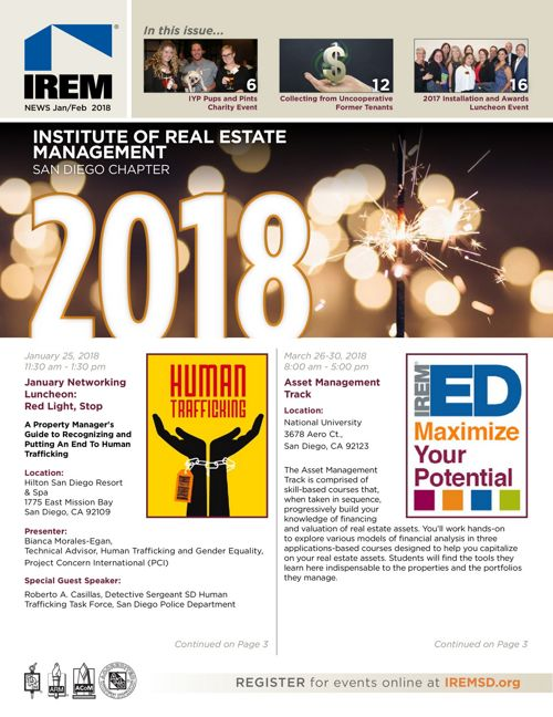 IREM SD Jan/Feb 2018 Newsletter