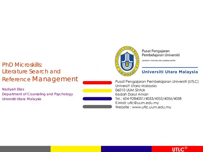 PhD Microskills:literature search and reference m(DR.NADIYAH)-wm