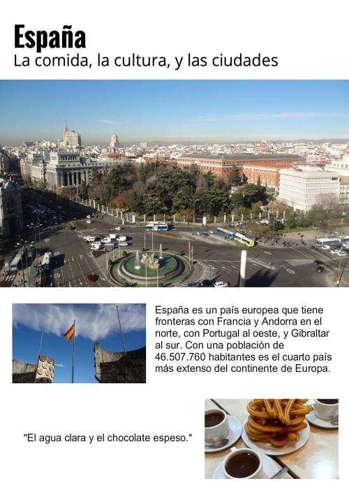 España: La cocina, la cultura, y las ciudades
