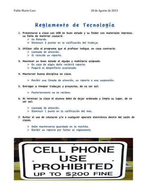 Reglamento de Tecnología