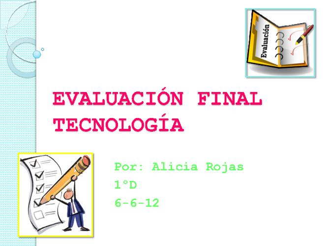 Evaluación final tecnología