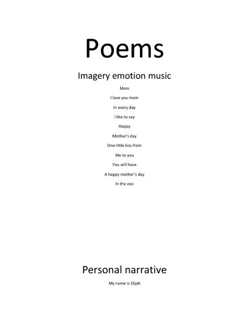 elijahs poems