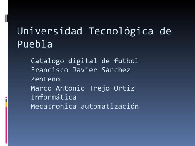 Universidad Tecnologica de Puebla catalogo