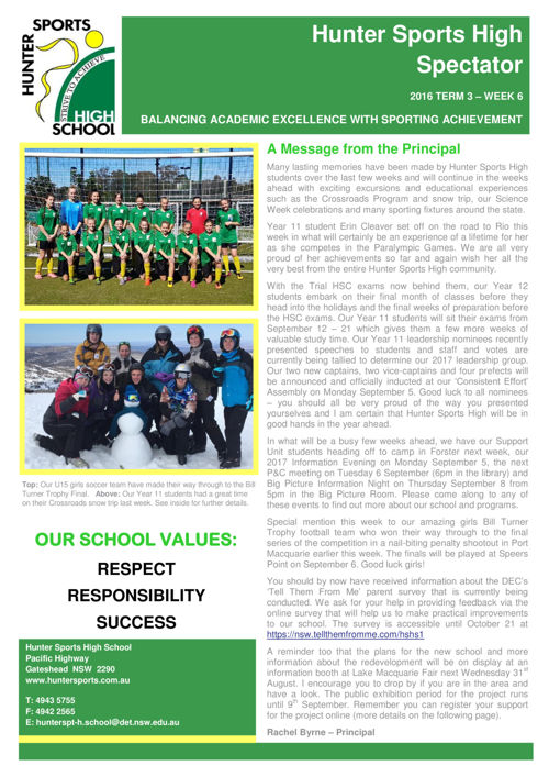 Term 3 Week 6 Newsletter 2016