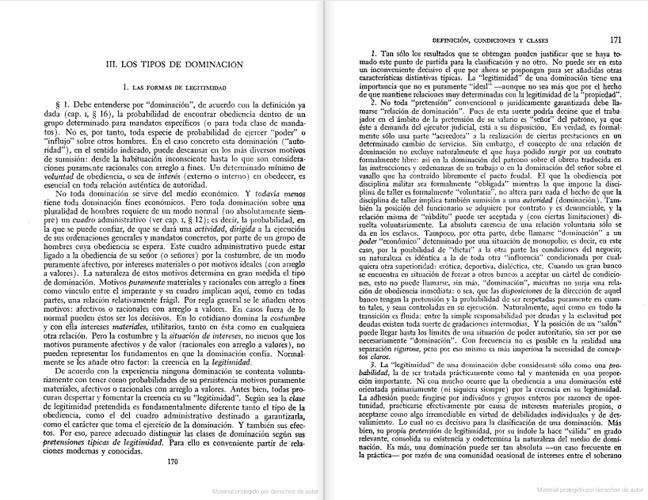 Economía y sociedad- Max Weber- Capítulo 3
