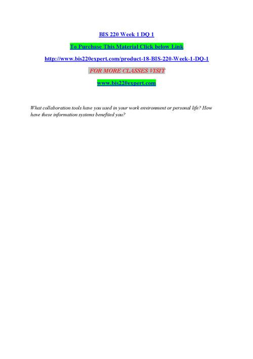 BIS 220 EXPERT Peer Educator/ bis220expert.com