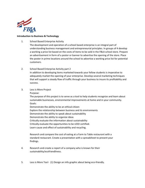 FBLA in Class72 IBT