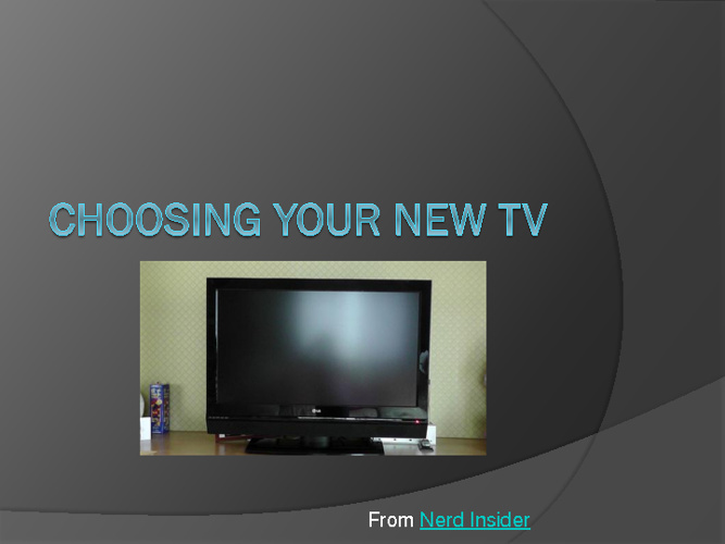 Choosing your new TV