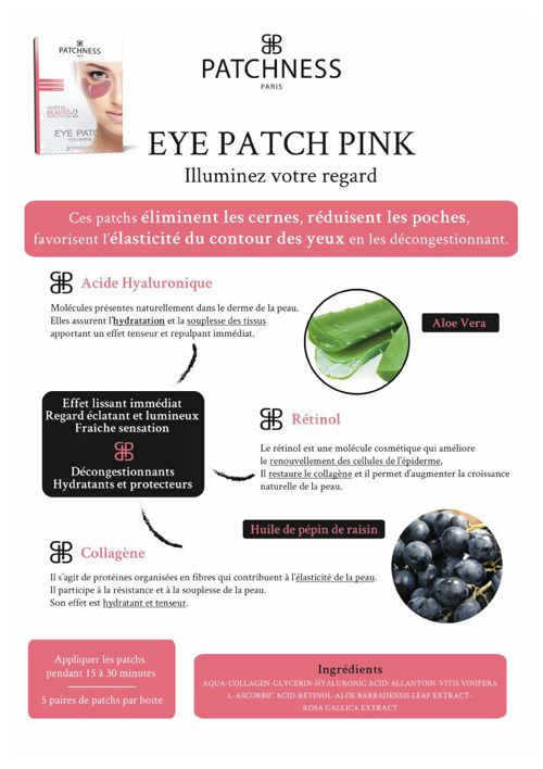 fiche info eye patch pink