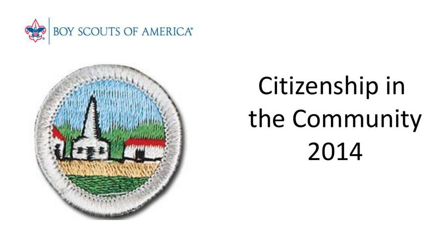 Citizen in the Community Merit Badge