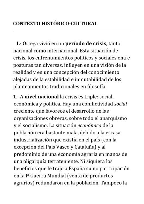 Ortega Contexto Lectura