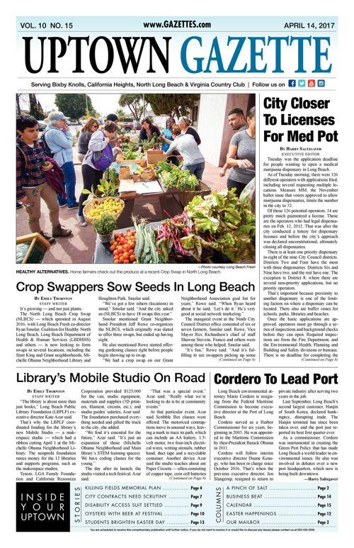 Uptown Gazette  |  April 14, 2017