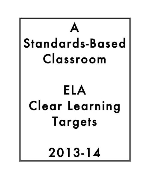 ELA Learning Targets