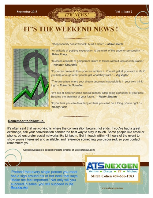 IT's The Weekend! NEWS