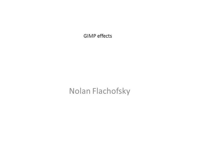 GIMP effects