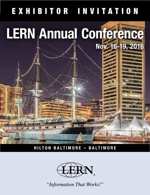 2016 LERN Annual Conference Exhibitor Brochure