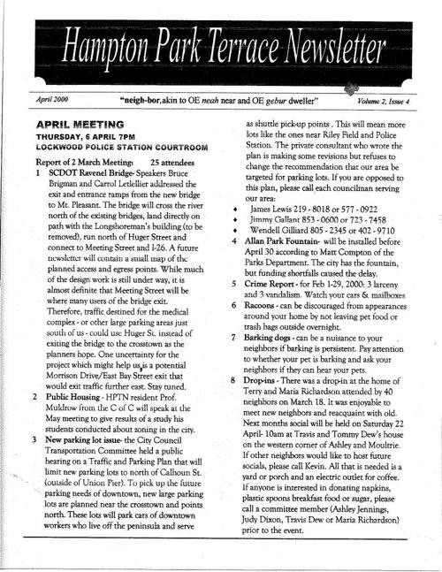 HPT Neighborhood April 2000