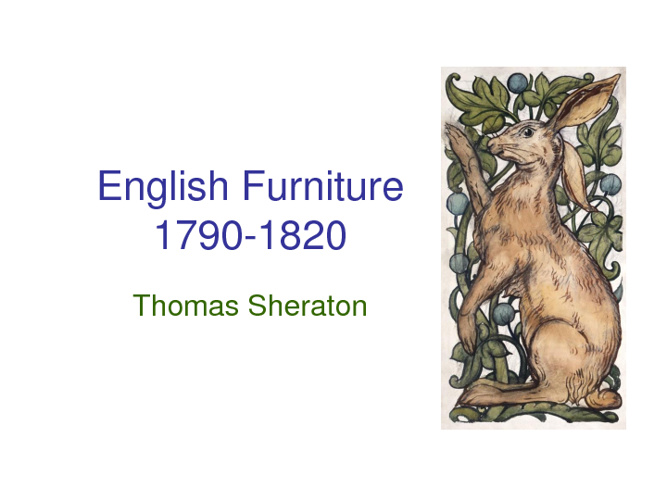 English Furniture by Thomas Sheraton