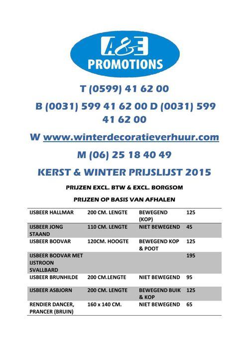 PRIJSLIJST-A&EPROMOTIONS-2015
