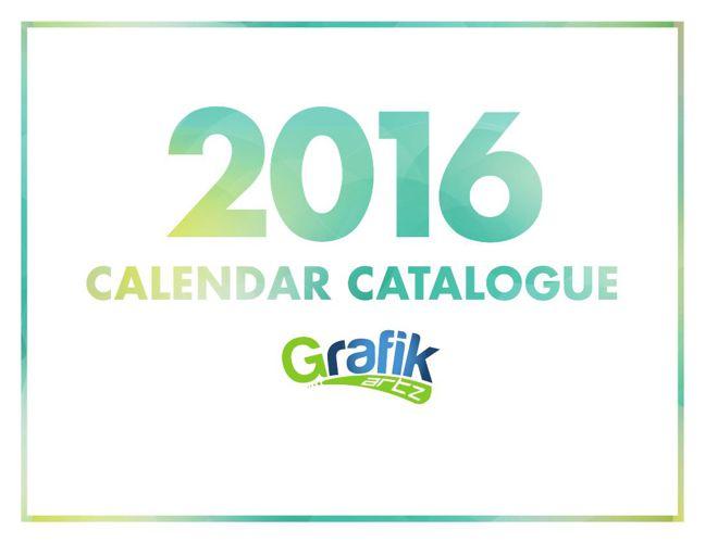 Grafik Artz 2016 Calendar Catalog