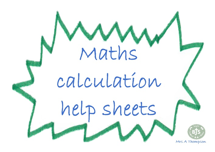 Maths Calculation help sheets