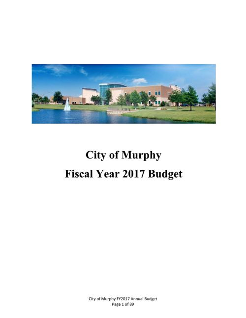 Approved FY2017 Budget Book