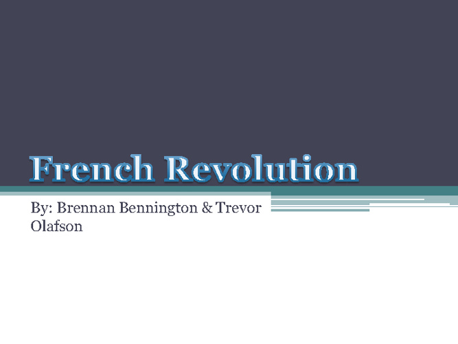 French Revlution