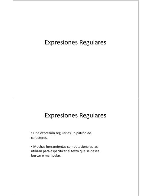 Expreciones Regulares