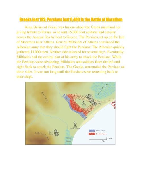 Battles in the Persian War