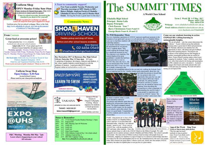 T2 Wk2B Summit Times 2017