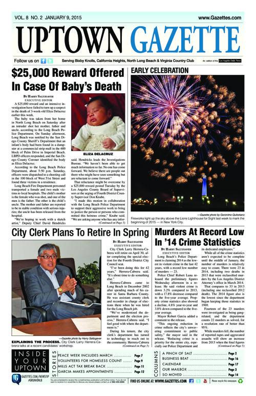 Uptown Gazette  |  January 9, 2015