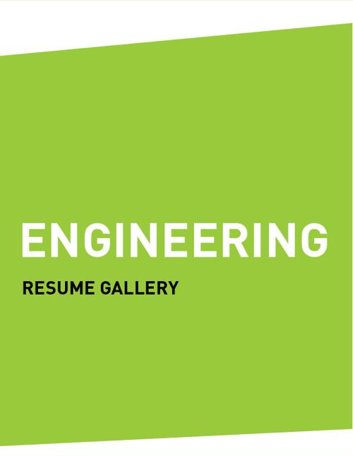 Resume Gallery (ENGINEERING)