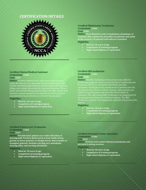 NCCA Brochure