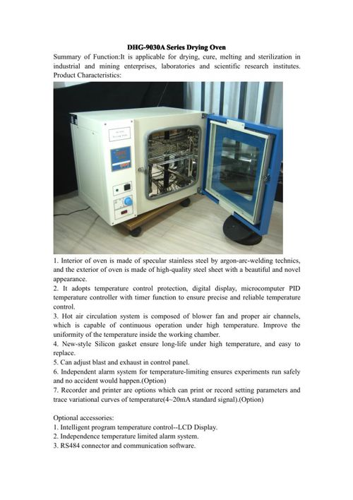DHG-9030A Series Drying Oven