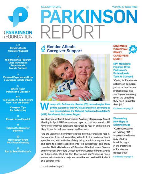Parkinson Report: Fall/Winter 2015