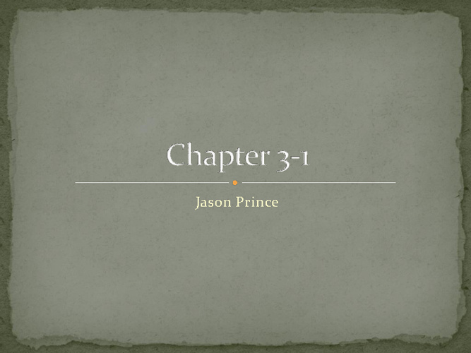 chapter 3-1
