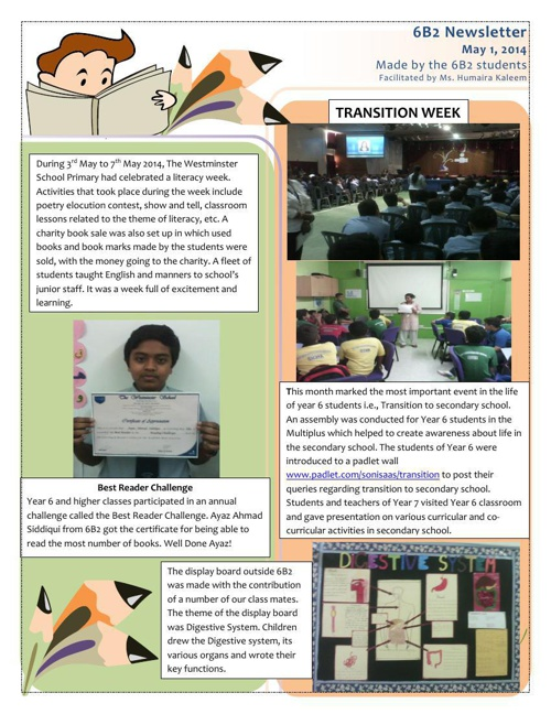 Year 6 Boys Newsletters