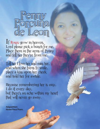 Penny De Leon  Thank You Card.