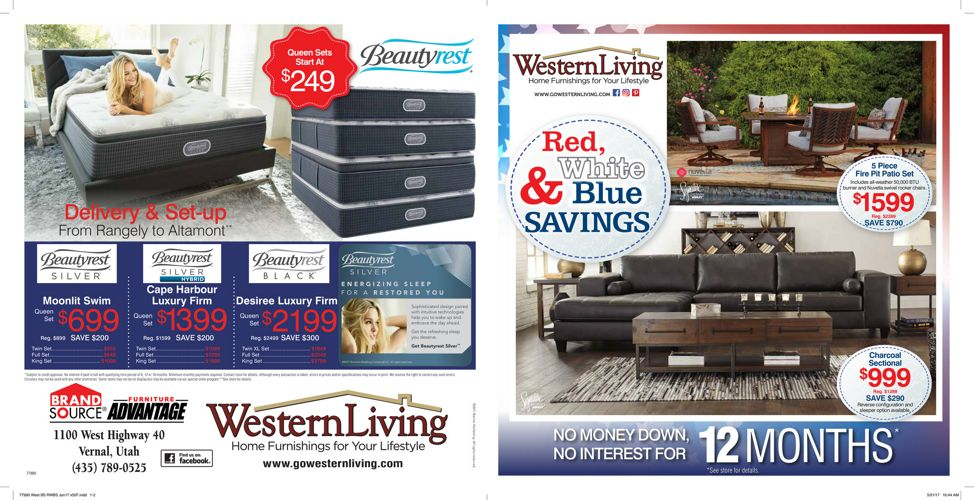 Western Living Red White & Blue Sale